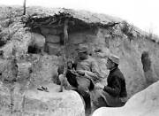 Old Photo World War I Ring Engraver In A Trench In 1915