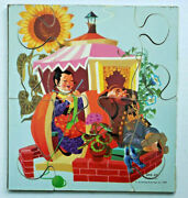 Vintage Sifo Co 1957 Wooden Puzzle Peter Peter Pumpkin Eater Extremely Rare