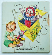 Vintage Sifo Co 1954 Wooden Puzzle Jack-in-the-box Extremely Rare