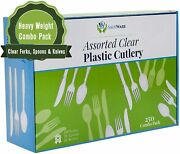 Plastic Spoons-forks- Knives Clear Extra Heavy Duty Cutlery