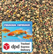 Fish Fuel Premium Supermix - 3mm And 6mm Floating Koi Food - 44 Protein