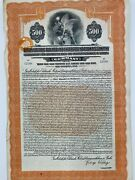 Berlin Electric Elevanted And Undergorund Ralwways Company Gold Bond 6 1956