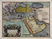Middle East Map By Abraham Ortelius Vintage Old Antique-look Map Canvas Print
