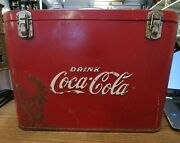 1940and039s Coca-cola Airline/ Suitcase Metal Cooler