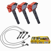 Red Ignition Coil Wire Set + Ngk Spark Plug For 96-03 Toyota 4runner Tacoma 3.4l
