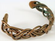 Antique Arts And Crafts Movement Copper Twisted Woven Style Bracelet Equestrian