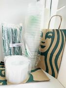 15 Starbucks Reusable Frosted Ice Cold Drink Cup With Lid And Straw Venti 24 Oz