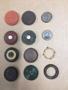 Assorted One-sided Oreo Sweetheart Photo Cases Mid- 19th Century Tintypes Rare