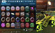 [xbox One] Painted Cephalo Wheels/rims For Rocket League In-game Item Colored