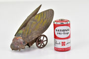Vintage Tin Toys The Wings Open In Conjunction With The Semi Wheels Rare