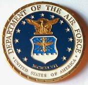U.s. Air Force Usaf | Put On The Whole Armor Of God | Gold Plated Challenge Coin