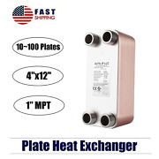 316l Stainless Steel Brazed Plate Heat Exchanger-pure Copper 4x12 1 Mpt