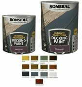 Ronseal Ultimate Decking Paint - Revive - Rescue Protect Deck Wood - New 2021