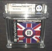 Grand Theft Auto London, 1969 Psone Factory Sealed Game Wata Graded 8.0 Vf