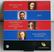 2013 Presidential 1 Coin Uncirculated Set 8 Golden Bu Dollars Us Mint Sealed