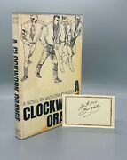 A Clockwork Orange/burgess First Us Edition Signed Card Laid In Fine