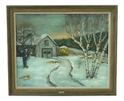 F49525ec Lexcy Stacr Signed And Framed Outdoor Scene Oil Painting On Canvas