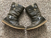 Ugg 11 Tall Australian Kensington Boots Brown Leather Size 7 F3010 G