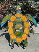 Sea Turtle Stained Glass Mosaic Wall Sculpture Ocean Boat Sailings