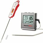 Digital Instant Read Tp15andtp16 Cooking Meat Thermometer Clock Timer Bbq Grill
