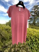 Nwt Current Season Sold-out Lululemon Swiftly Tech Pink Red Sz 8 Cherry Tint Ss