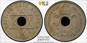 1936 H British West Africa Penny East Africa 10 Cent Mule Pcgs Graded Au50