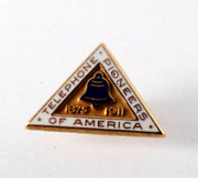 Vintage Telephone Pioneers Of America Lapel Pin 1/10th 10k G.f. 1875-1911 Signed