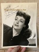Joan Crawford Signed Autographed Sp 8x10 Photo 1940s Mildred Pierce