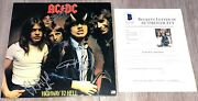Ac/dc Signed Highway To Hell Vinyl Record Album Angus Young +2 W/beckett Bas Loa