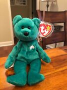 """Erin Bear Beanie Baby Error Of Space Between """"old """" And """"r"""" """"tm"""" Both On Tush"""