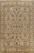 9x12 Ft Semi Antique Muted Floral Animal Design Mahal Area Rug Wool Hand-knotted