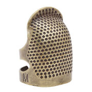 Brass Thimble Finger Protector, Antique Finish Metal Fingertip Thimble Mp
