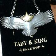 Tady And King Eagle Menand039s K18 Gold Pendant Oversized Large From Japan Excellent