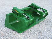 72andprime Compact Tractor Solid Bottom Bucket Grapple Fits John Deere Tractor Loader