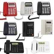 Fixed Corded Telephone Desk Home Office Wired Landline Call Phone Caller Id