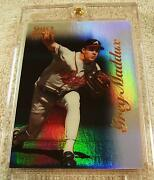 Greg Maddux 1996 Select Certified Mirror Blue Foil 32 Only 45 Produced Braves