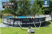 Intex 26333eh Ultra Xtr Set Above Ground Pool, 20ft X 48in, Gray - W/ Sand Pump