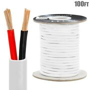100ft 12awg 2-conductor Car Home Audio Speaker Wire Cable Stranded In Wall Cca