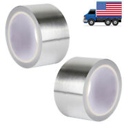 2 Rolls 2 15ft Silver Self-adhesive Heat Barrier Reflective Intake Wrap Tape