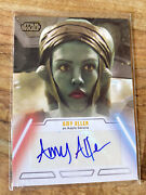 2013 Topps Star Wars Jedi Legacy Amy Allen As Aayla Secura Auto Autograph Card