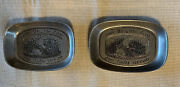 Andbull2andbull Vintage Wilton Armetale Pewter Trays Give Us This Day Our Daily Bread Plate