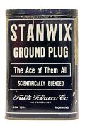 Scarce 1910s Stanwix Litho Hinged Pocket Tobacco Tin In Very Good Condition