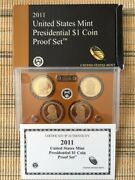 2011, 2012 And 2013 Us Mint Presidential Dollars Proof Sets
