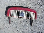 International 340 Utility Tractor Original Ih Top Nose Cone Grill Bonet And Holder