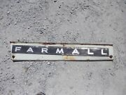 Farmall 706 Tractor Left Front Ih Hood Skirt Panel W/ Emblem And Bolts