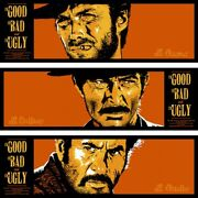 The Good The Bad The Ugly By Bill Perkins - Tiptych Set -sold Out Mondo Print