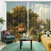 Cold Mountain Forest 3d Blockout Photo Print Curtain Fabric Curtains Window