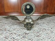 Antique 1920s Boyce Moto-meter Universal Model With Wings And Statue Of Liberty
