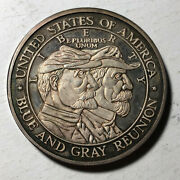 1988 Battle Of Gettysburg 5 Ounce .999 Silver Art Round Medal