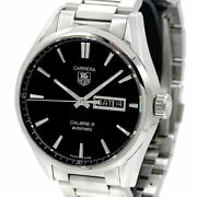 Tag Heuer Carrera Caliber 5 Day Date War201a-1 Automatic Ss Menand039s Watch [b0718]
